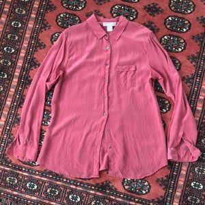 100% Silk Button Up Blouse